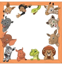 Funny kids animals vector image vector image