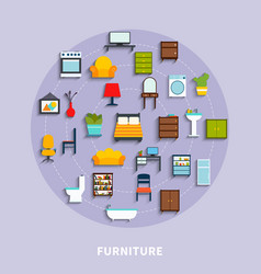 furniture concept vector image vector image