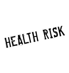 Health risk rubber stamp vector