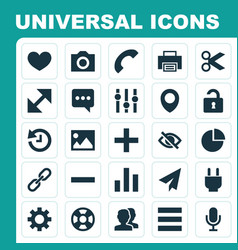 Interface icons set collection of chain people vector