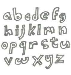 lower case marker alphabet vector image vector image