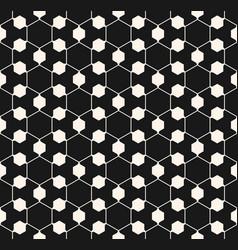 ornamental geometric seamless pattern hexagonal vector image