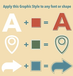 Stitched graphic styles vector image vector image