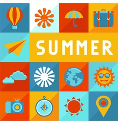 summer banner vector image vector image
