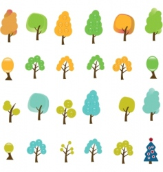 trees signs vector image vector image