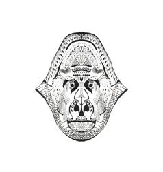 Zentangle stylized monkey head vector image vector image