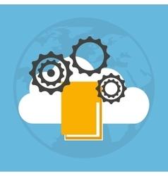 cloud computing data storage vector image