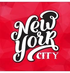 New York city typography brush pen design vector image