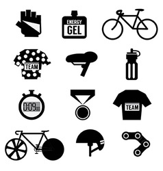 Set of Bicycle and Accessories vector image vector image
