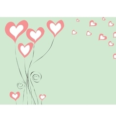 background with hearts for St Valentine day vector image