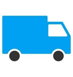 Cargo Van Flat Icon vector image