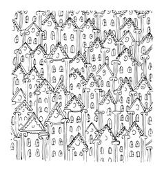 houses sketch art design vector image