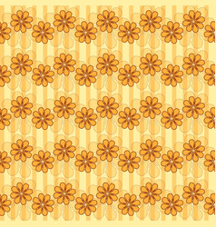 Pattern with waves of flowers vector