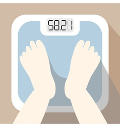 weighing 1 vector image