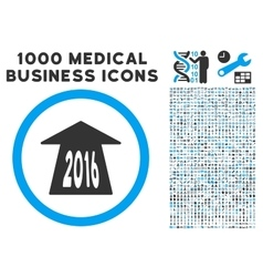 2016 Future Road Icon with 1000 Medical Business vector image