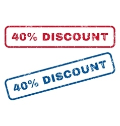 40 Percent Discount Rubber Stamps vector