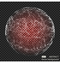 Abstract mesh spheres Futuristic technology low vector