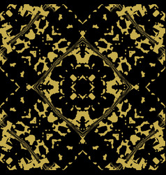 Abstract spotty damask seamless pattern vector