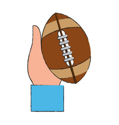 ball american football vector image