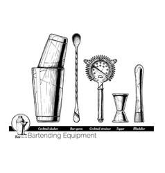 Bartending equipment vector