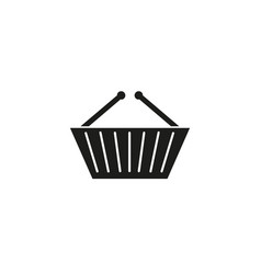 basket shop black icon vector image