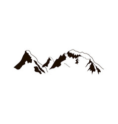 black mountains peaks ridge vintage logo vector image