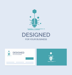 Bug insect spider virus web business logo glyph vector