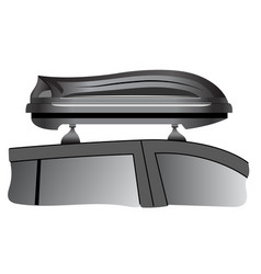 car roof box vector image