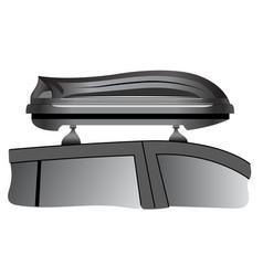 Car roof box vector