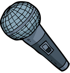 Cartoon doodle microphone vector