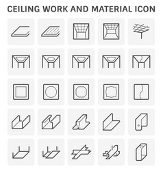 ceiling work icon vector image