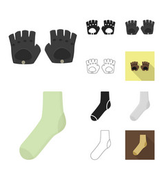 clothes and accessories cartoonblackflat vector image