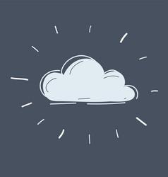 cloud on dark background vector image
