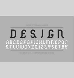 creative font - retro ancient design vector image