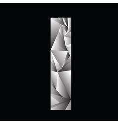 Crystal letter I vector
