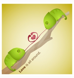 Cute Animals Collection Love is all around 5 vector image