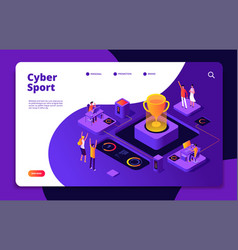 cyber sport esports stream online video game vector image