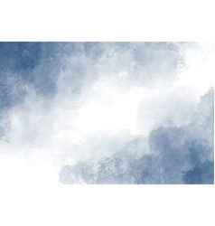 dark blue indigo watercolor splash background vector image