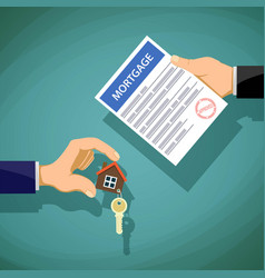 deal with the real estate two people hold the key vector image