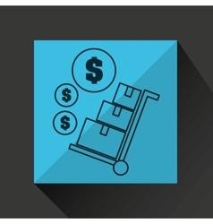 Delivery cargo economy money vector