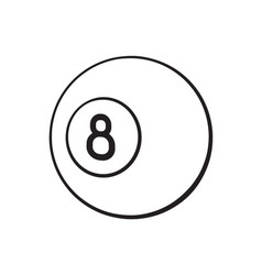 doodle billiard ball number eight vector image