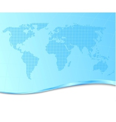 dotted world map on a technological background vector image