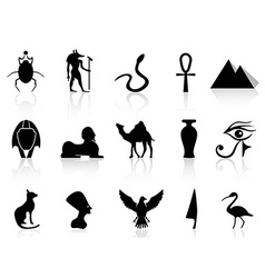 Egyptian Icon Set vector image