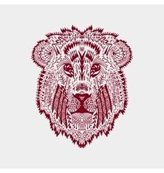 Entangle stylized lion head vector