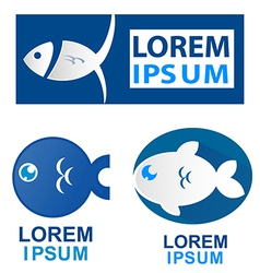 fish symbol set vector image
