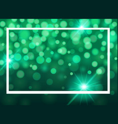 Frame template design with lights on green vector