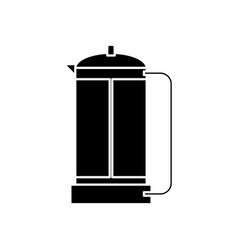 french press coffee maker icon vector image