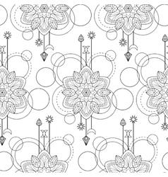 Geometric mandala seamless pattern vector