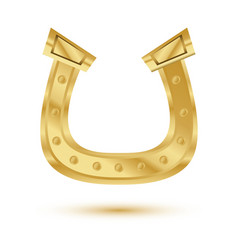 golden horseshoe isolated on white background vector image