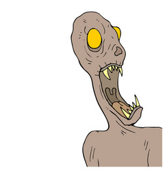 halloween fear monster draw vector image